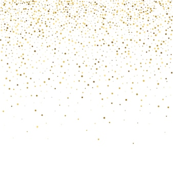 Gold stars. confetti celebration, falling golden abstract decora