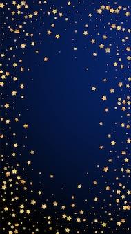 ゴールドスターランダムラグジュアリースパークリング紙吹雪。 Premiumベクター