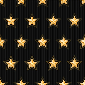 Золотые звезды бесшовные модели