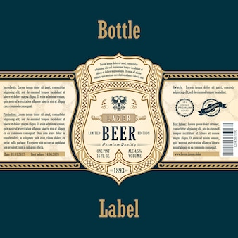 Gold sticker bottle beer