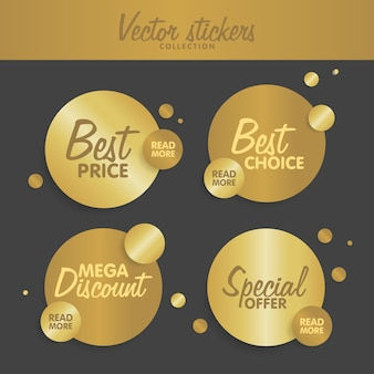 Gold stickers set