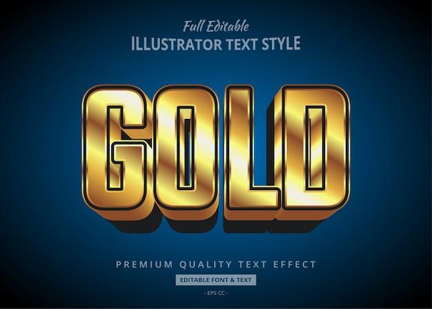 Эффект стиля текста в золотом стиле