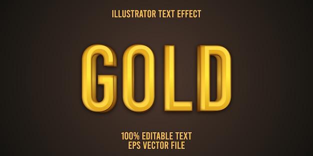 Редактируемый текстовый эффект gold style