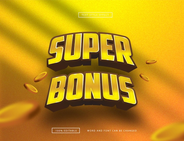 Gold super bonus text effect
