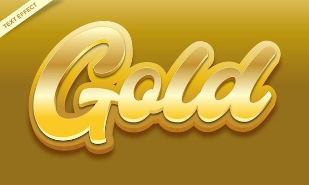 Gold text effect design vector