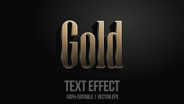 Gold text effect editable
