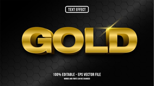 Gold text effect style concept