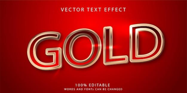 Золотой текстовый эффект стиль шаблона