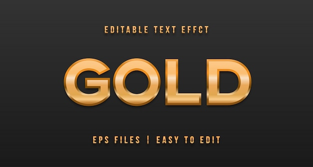 Gold text effext, editable text