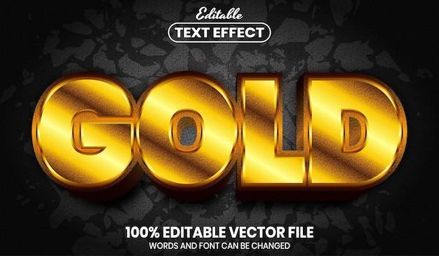 Золотой текст, редактируемый текстовый эффект стиля шрифта