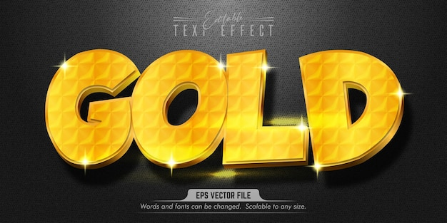 ゴールドテキスト、ゴールドスタイルの編集可能なテキスト効果