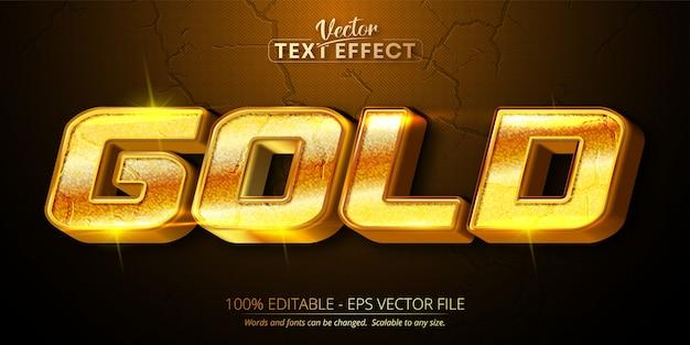 Золотой текст, блестящий золотой стиль редактируемый текстовый эффект