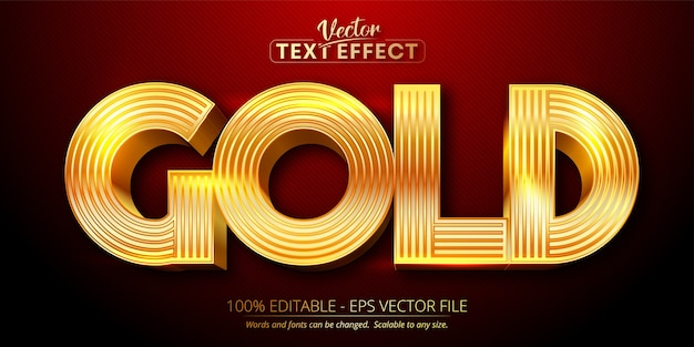 Gold text, shiny gold style editable text effect
