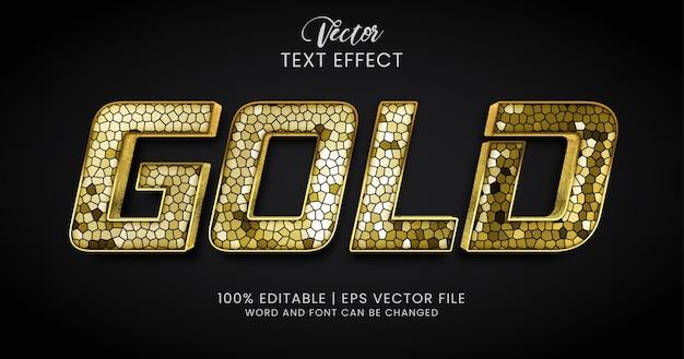Золотой текст, стиль текстового эффекта витража