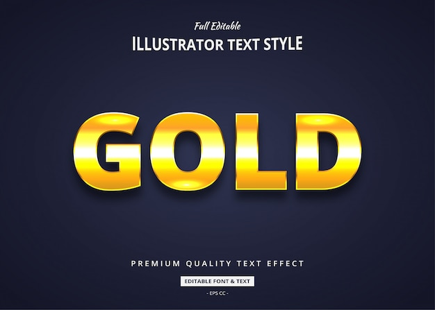Gold text style effect