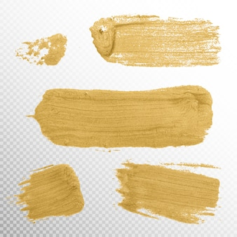Gold texture paint stain illustration.