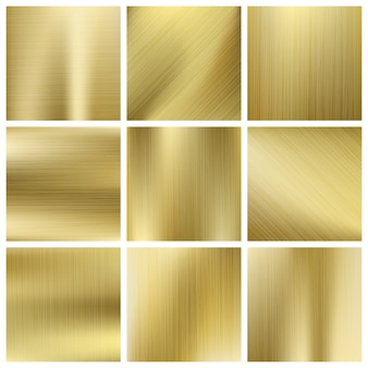 Gold texture vector set