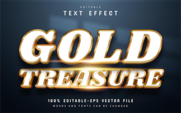 Gold treasure text effect