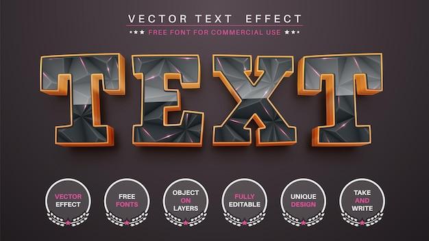 金色の三角形の編集テキスト効果編集可能なフォントスタイル