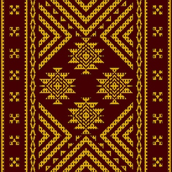 Gold tribal aztec seamless pattern