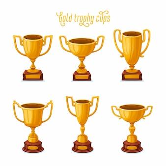 금 트로피 컵