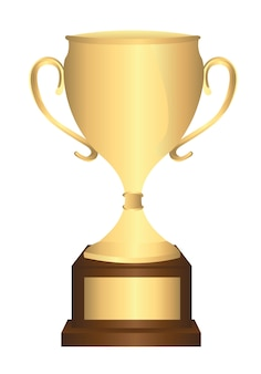 Gold trophy isolated
