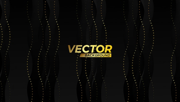 Gold vector half stroke flow background design