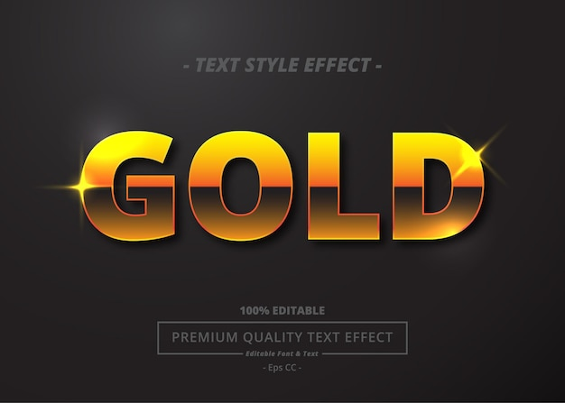 Gold vector text style effect