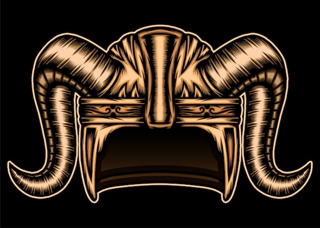 Gold viking helmet.