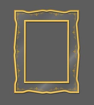 Золотая винтажная фоторамка