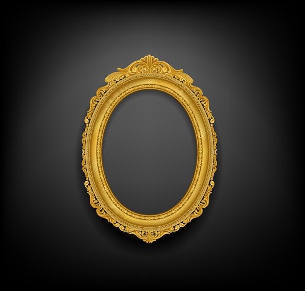 Gold vintace picture frame