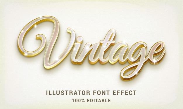 ゴールドのビンテージテキストスタイル-簡単に編集可能なテキスト効果