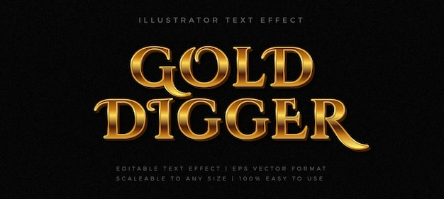 Gold vintage text style font effect