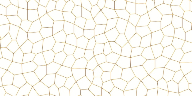 Gold voronoi texture background
