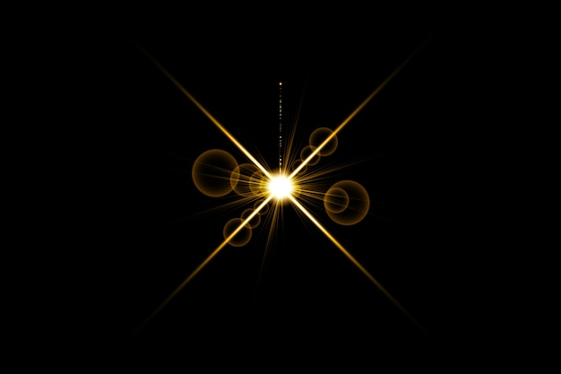 Gold warm color bright lens flare