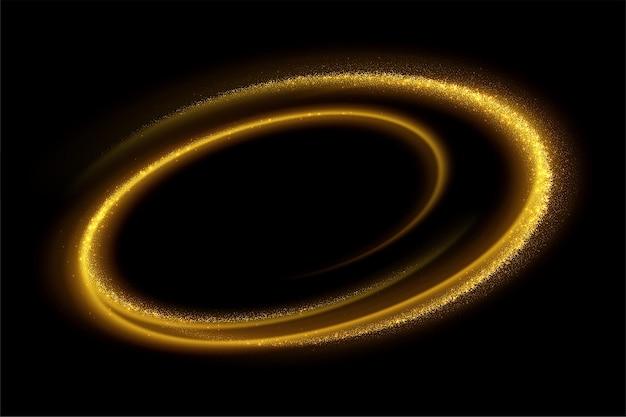 黒の背景に金の波の流れと金色のキラキラ。