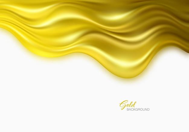 Золотая волна на белом фоне роскошный золотой цвет волны фон