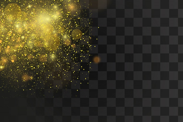 Gold and white glitter abstract bokeh