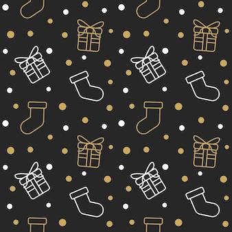 Gold white socks gift box snow pattern