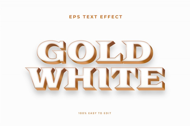 Gold white text effect