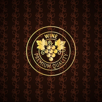 Gold wine label design