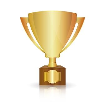 金の優勝カップ
