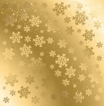 Gold winter abstract background.