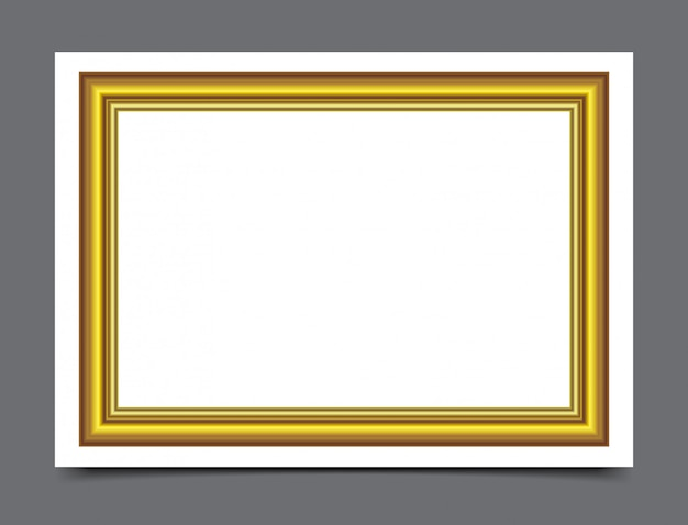 Gold wood frame for photography border