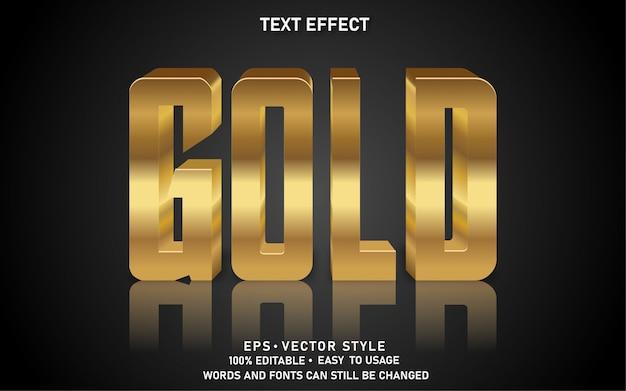Редактируемый текстовый эффект gold
