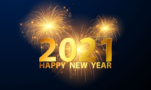 ゴールデン2021新年あけましておめでとうございます背景