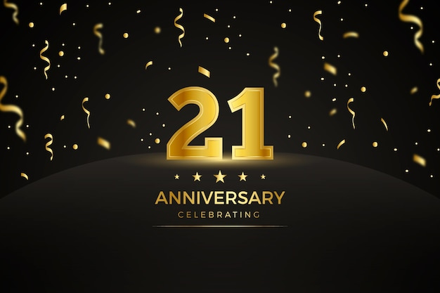 Golden 21 anniversary background