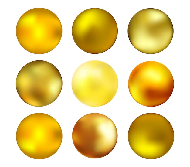 Golden 3d sphere collection