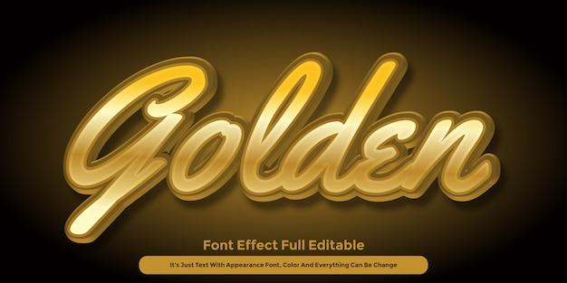 Golden 3d text