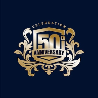 Golden 50th anniversary logo
